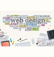 flat design concept for website development vector image