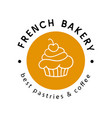 french bakery logotype badge label vector image