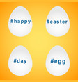 happy easter eggs hashtag design elements vector image vector image