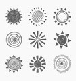 icon doodle sun vector image