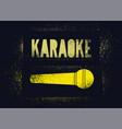 karaoke typographic stencil spray grunge poster vector image vector image