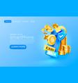 mobile cash back service financial payment vector image