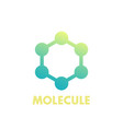 molecule icon logo element on white vector image vector image
