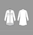 oversized shirt dress technical fashion