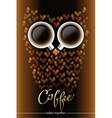 Owl shape made of coffee vector image