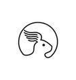 Rabbit Wing Ear Side Retro vector image vector image