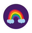 rainbow with gay pride flag block style vector image vector image