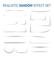 Realistic Shadow Effect Collection vector image