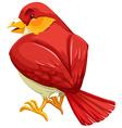 Red bird vector image vector image