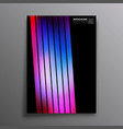 retro design poster with colorful gradient stripes vector image vector image