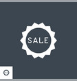 sale badge related glyph icon vector image