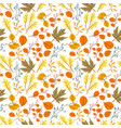 seamless pattern with oak autumn leaves and vector image vector image