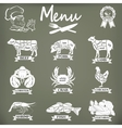 Set of butcher shop labels and design elementsn vector image vector image