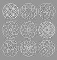 set of round elements cut out paper for arabic vector image vector image
