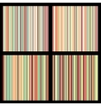 set striped seamless patterns vector image vector image