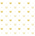 Simple seamless pattern with crown symbol art vector image