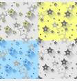 star seamless patterns set vector image vector image