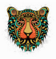 stylized lion zentangle vector image vector image