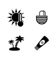 sunbasimple related icons vector image vector image