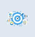target analytics vector image vector image