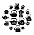 teapot icons set simple style vector image vector image