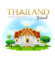 thailand temple travel with monks design cloud vector image vector image
