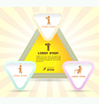 triangle with business man icons vector image