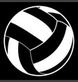 volleyball ball white color icon vector image vector image