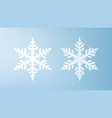 white snowflakes isolated on light blue background vector image vector image