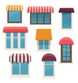 windows with outside awnings vector image vector image