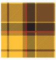 yellow tartan cloth pattern vector image vector image