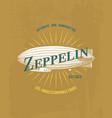 tee print zeppelin air balloon transport t-shirt vector image