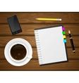 Coffee cap phone vector image