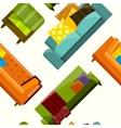 sofa in flat seamless vector image