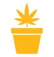 Cannabis Pot Icon vector image