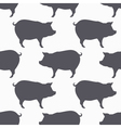 Pig silhouette seamless pattern Pork meat vector image