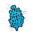 all city king tag graffiti style label lettering vector image vector image