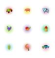 Animal farm icons set pop-art style vector image vector image