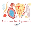 Autumn graphic background vector image vector image