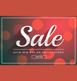 beautiful sale banner design template with bokeh vector image vector image