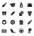 Black Car part and services icons vector image vector image