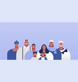 black happy family people character set isolated vector image