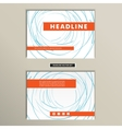 Book cover with abstract colored lines and circles vector image vector image