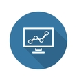 Business Analytics Icon Concept Flat Design vector image vector image