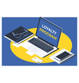 business teamcustomer loyalty service support vector image