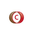 c letter circle logo vector image vector image