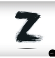 Calligraphic watercolor letter Z vector image