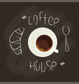 chalk lettering and coffee vector image vector image