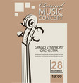 classical concert poster vector image vector image