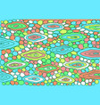 colorful doodle with dragon skin vector image vector image